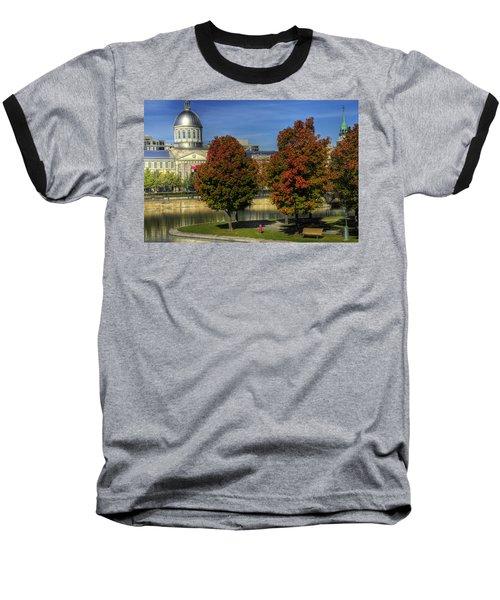 Bonsecours Market Baseball T-Shirt