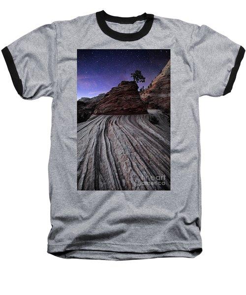 Bonzai In The Night Utah Adventure Landscape Photography By Kaylyn Franks Baseball T-Shirt