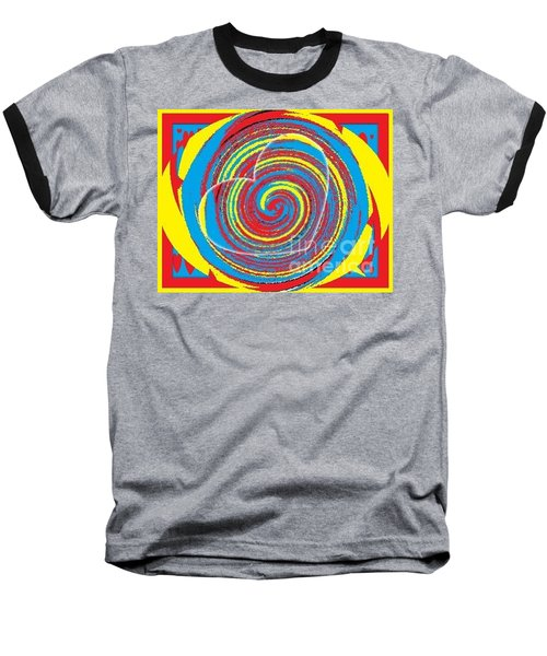 Baseball T-Shirt featuring the painting Boo Hearted by Catherine Lott
