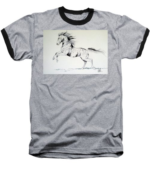 Loud Appaloosa Baseball T-Shirt by Cheryl Poland