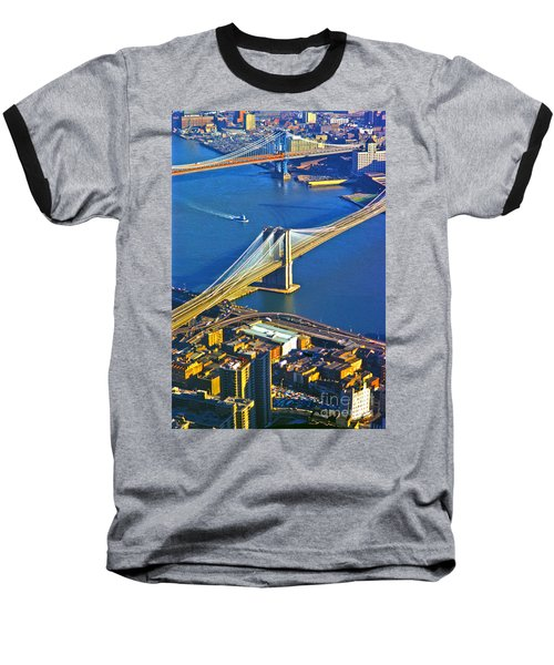 Booklyn And Manhattan Bridges Baseball T-Shirt