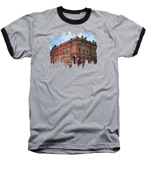 Boomtown Saloon Jacksonville Oregon Baseball T-Shirt by Thom Zehrfeld