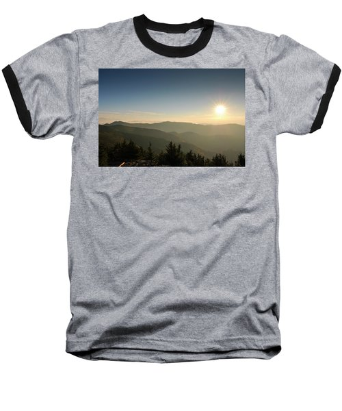 Boone Nc Area Sunset Baseball T-Shirt