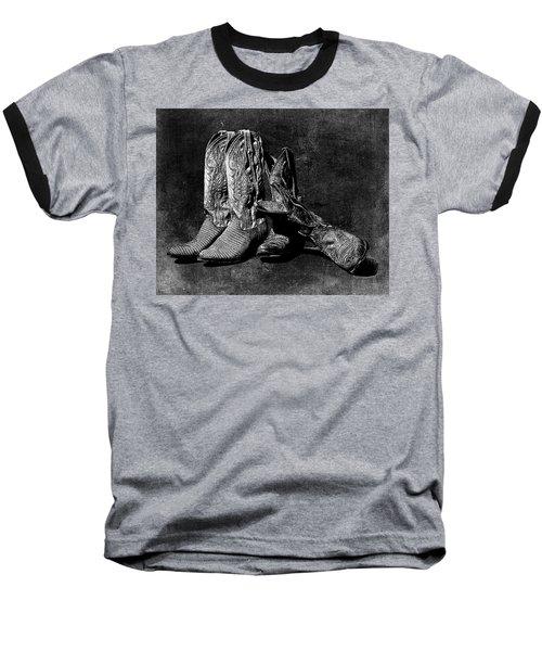Boot Friends - Art Bw Baseball T-Shirt