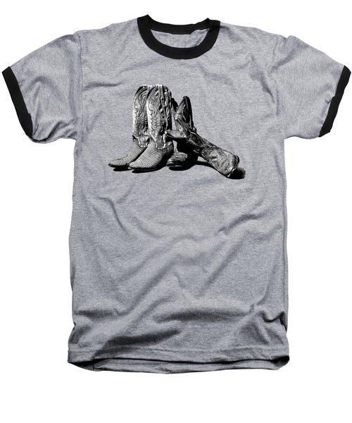 Boot Friends Gray Background Baseball T-Shirt