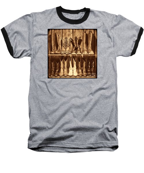 Boot Rack Baseball T-Shirt by American West Legend By Olivier Le Queinec