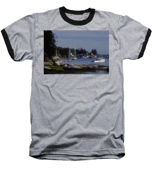 Boothbay Harbor In Maine Baseball T-Shirt