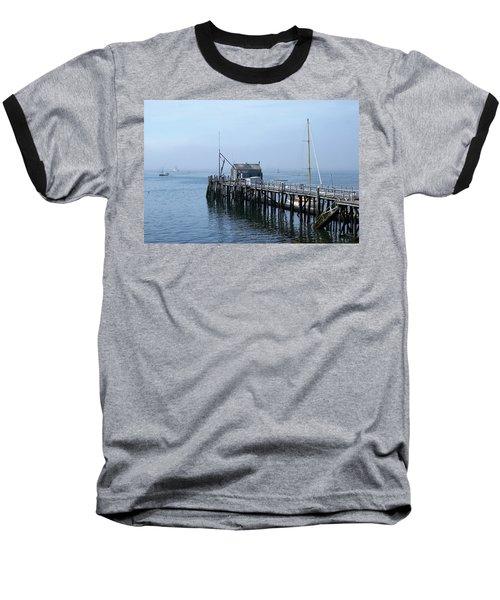 Boothbay Shipyard Dock Baseball T-Shirt
