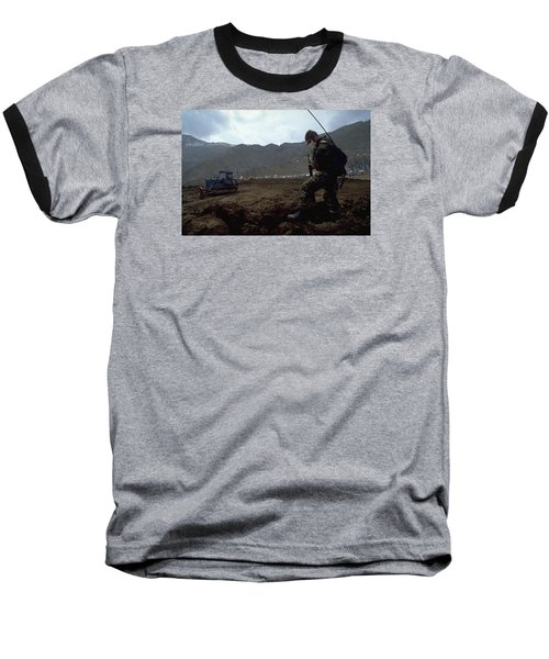 Boots On The Ground Baseball T-Shirt by Travel Pics