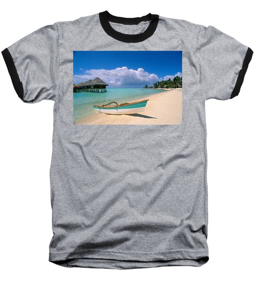 Bora Bora, Hotel Moana Baseball T-Shirt by Greg Vaughn - Printscapes