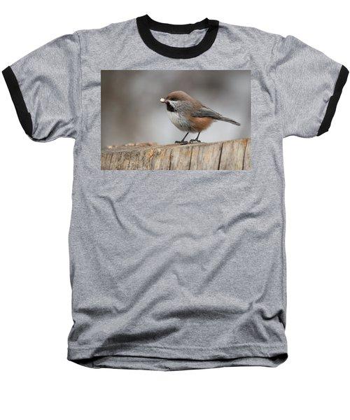 Boreal Chickadee Baseball T-Shirt