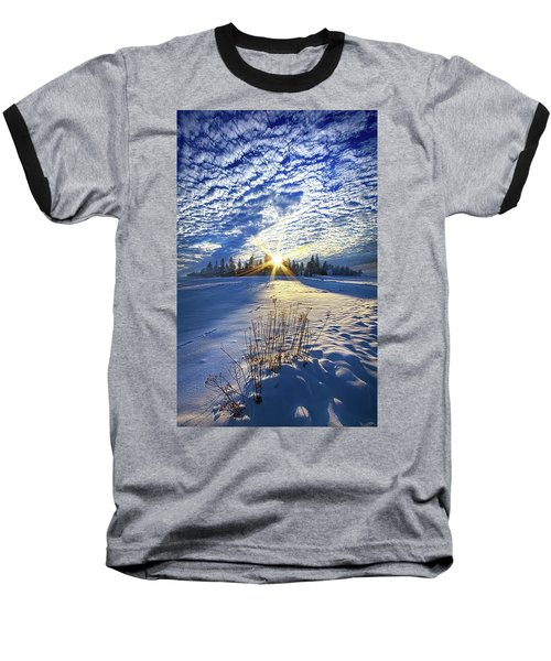 Baseball T-Shirt featuring the photograph Born As We Are by Phil Koch