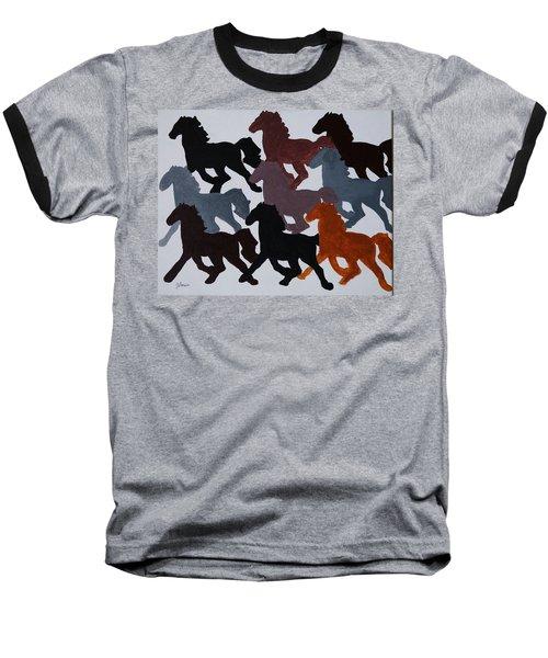 Born Free Baseball T-Shirt by Joseph Frank Baraba