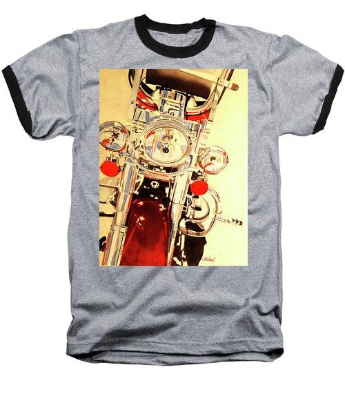 Born To Be Wild Baseball T-Shirt by Cynthia Powell