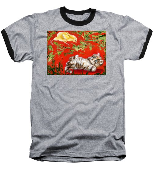 Baseball T-Shirt featuring the painting Born To Be Wild by Hiroko Sakai