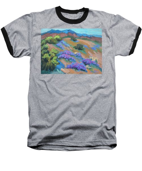 Baseball T-Shirt featuring the painting Borrego Springs Verbena by Diane McClary
