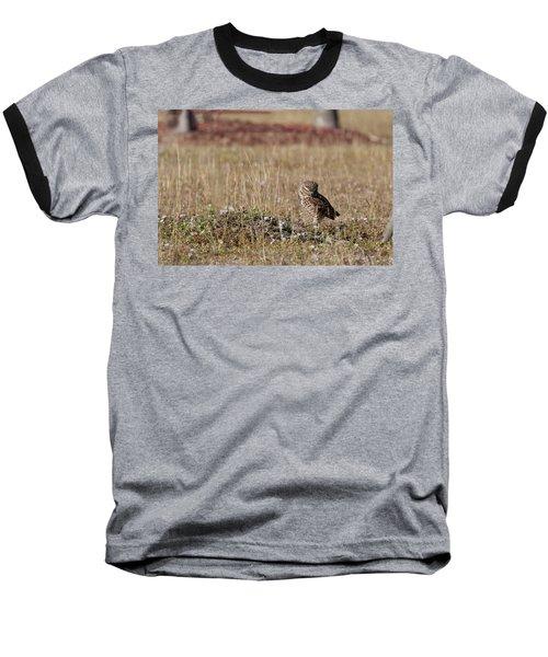 Borrowing Owl Outside His Home Frowning Baseball T-Shirt