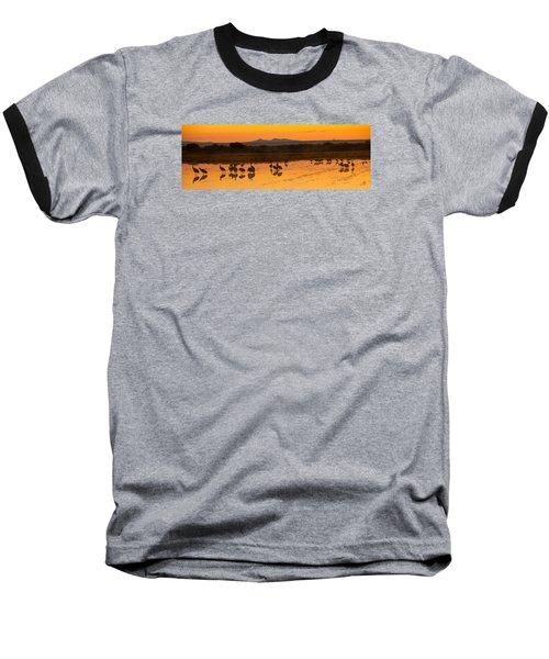 Bosque Sunrise Baseball T-Shirt by Alan Vance Ley