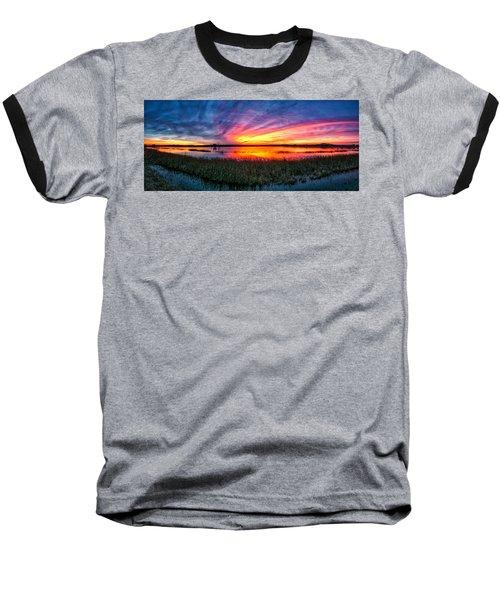 Baseball T-Shirt featuring the photograph Bosque Sunrise by Kristal Kraft