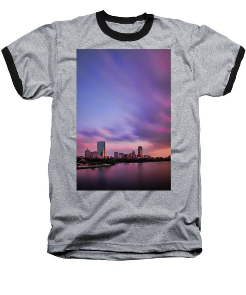 Boston Afterglow Baseball T-Shirt by Rick Berk