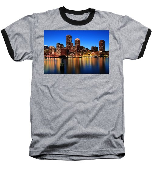 Boston Aglow Baseball T-Shirt by Rick Berk
