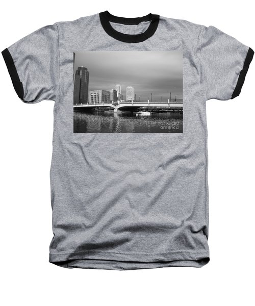 Boston Bridge Baseball T-Shirt by Barbara Bardzik