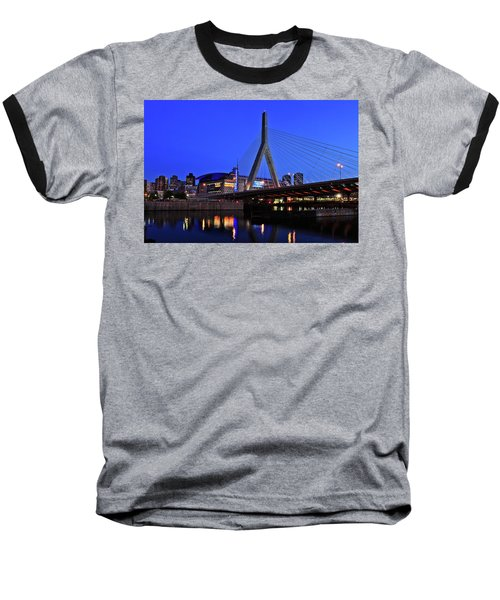 Boston Garden And Zakim Bridge Baseball T-Shirt by Rick Berk