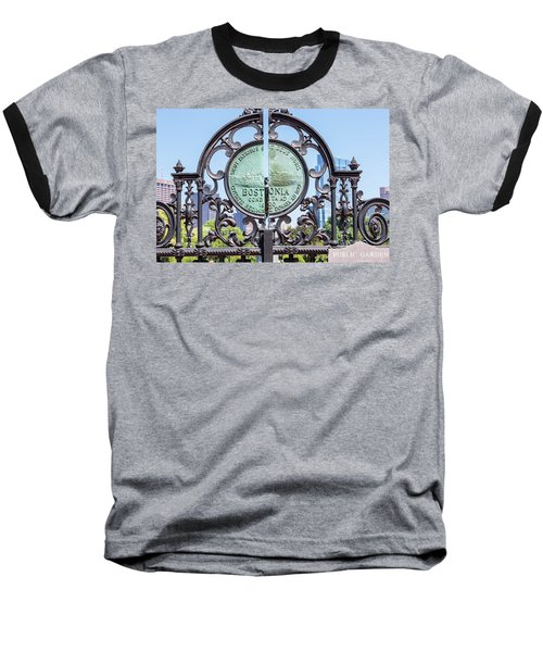 Boston Garden Gate Detail Baseball T-Shirt