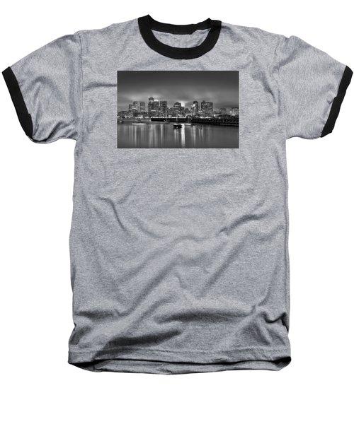 Boston In Black And White Baseball T-Shirt