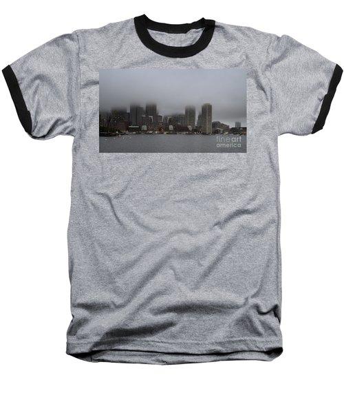 Boston In The Fog Baseball T-Shirt