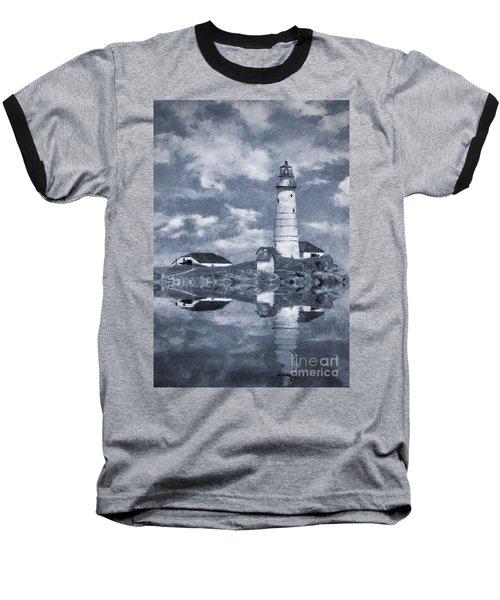 Baseball T-Shirt featuring the photograph Boston Light  by Ian Mitchell