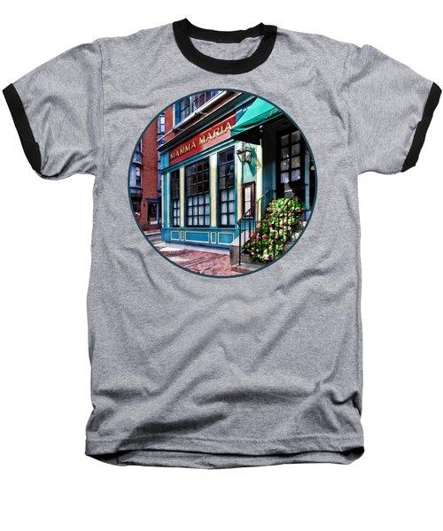Boston Ma - North End Restaurant Baseball T-Shirt