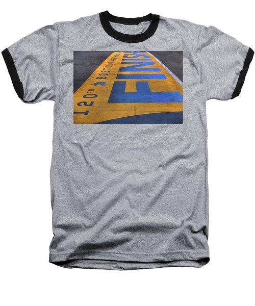 Boston Marathon Finish Line Baseball T-Shirt by Joann Vitali
