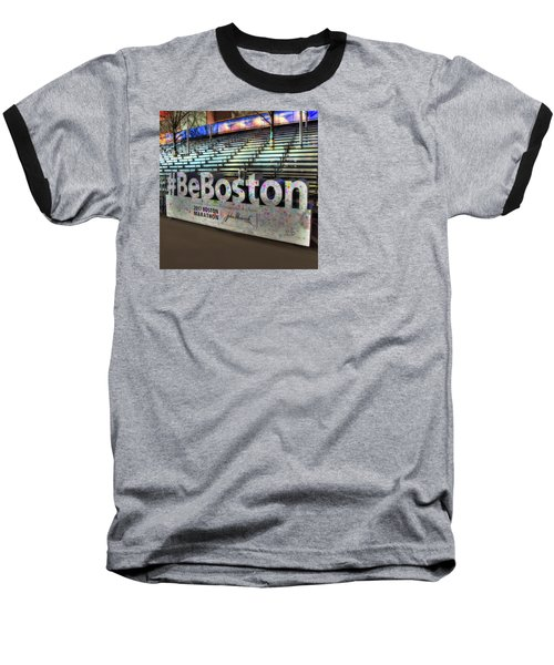Baseball T-Shirt featuring the photograph Boston Marathon Sign by Joann Vitali