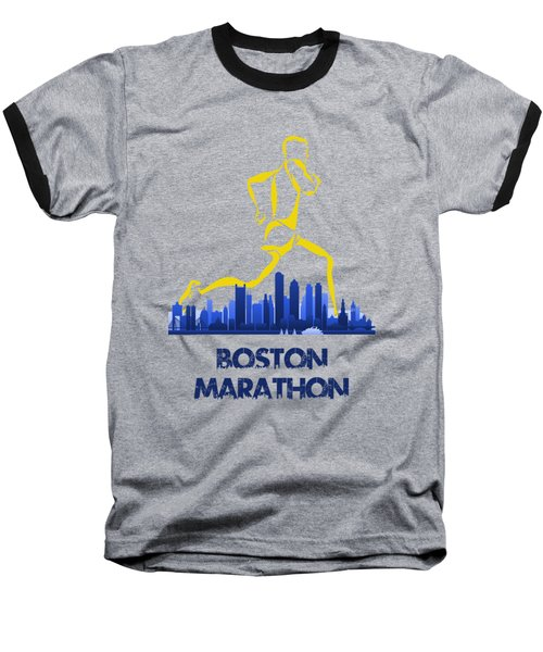 Boston Marathon5 Baseball T-Shirt by Joe Hamilton