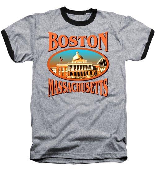 Boston Massachusetts Design Baseball T-Shirt