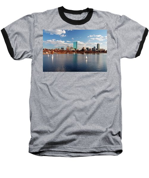 Boston On The Charles  Baseball T-Shirt