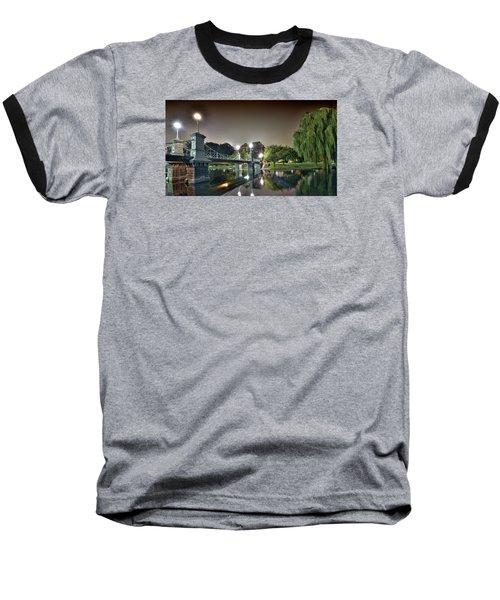 Boston Public Garden - Lagoon Bridge Baseball T-Shirt by Brendan Reals