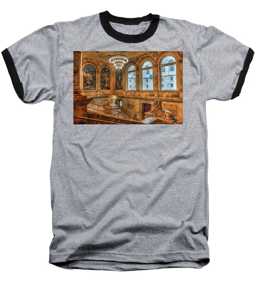 Baseball T-Shirt featuring the photograph Boston Public Library Architecture by Joann Vitali
