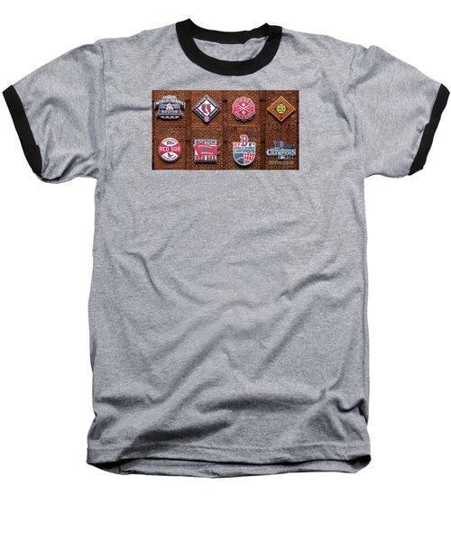 Boston Red Sox World Series Emblems Baseball T-Shirt by Diane Diederich
