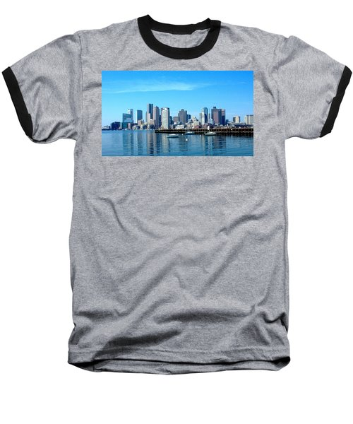 Boston Skyline A Baseball T-Shirt