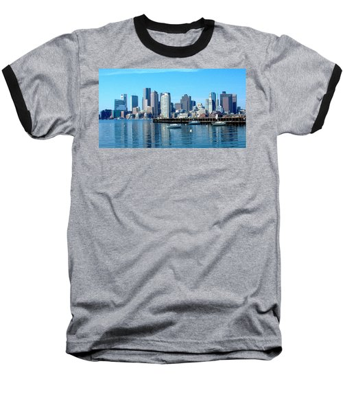 Boston Skyline B Baseball T-Shirt