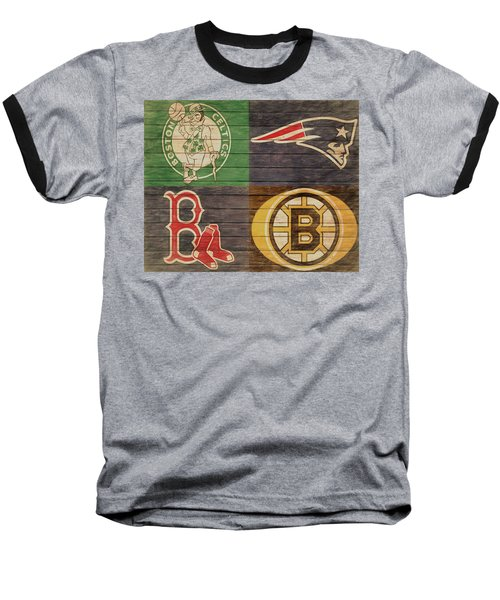 Boston Sports Teams Barn Door Baseball T-Shirt