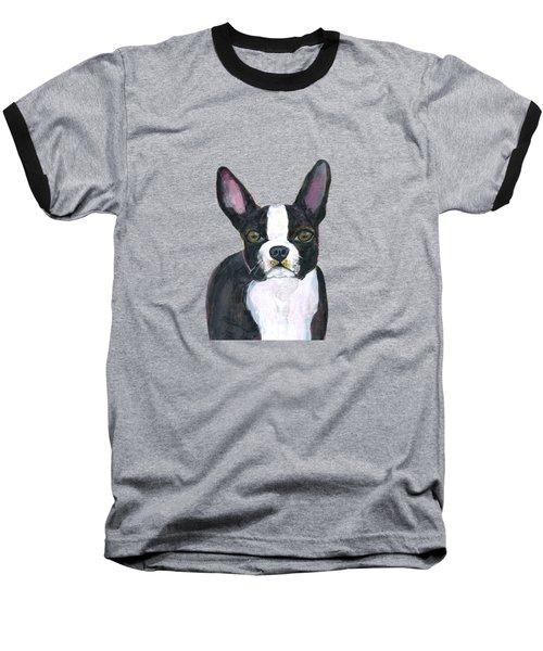 Boston Terrier Dog Baseball T-Shirt