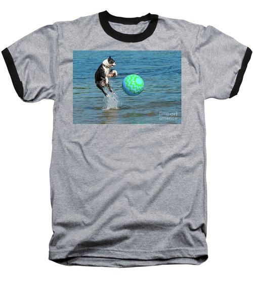 Boston Terrier High Jump Baseball T-Shirt