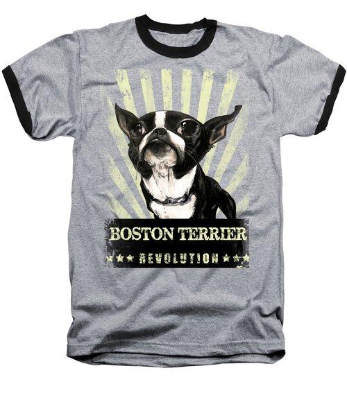 Boston Terrier Revolution Baseball T-Shirt