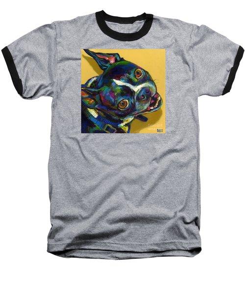 Boston Terrier Baseball T-Shirt by Robert Phelps
