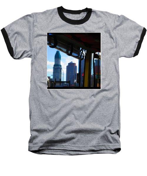 Boston Views From Tour Bus Window Baseball T-Shirt