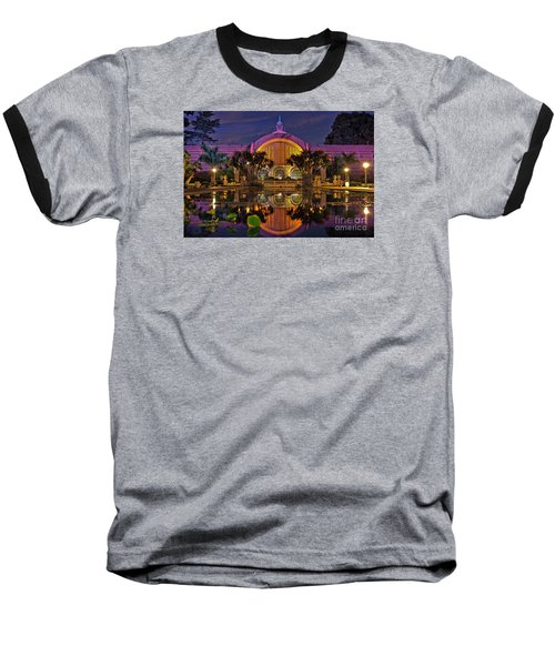 Botanical Building At Night In Balboa Park Baseball T-Shirt by Sam Antonio Photography