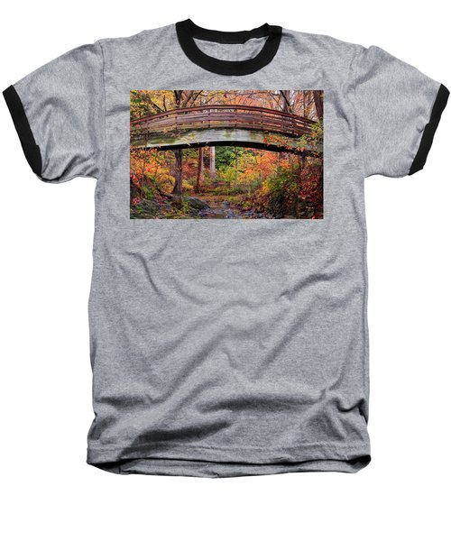Botanical Gardens Arched Bridge Asheville During Fall Baseball T-Shirt